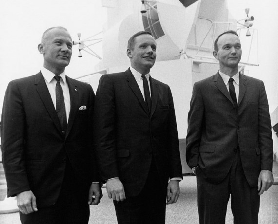 Armstrong, Michael Collins, y Edwin E. Aldrin